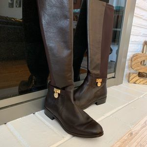 Michael Kors Brown Knee High Leather Boots 👢